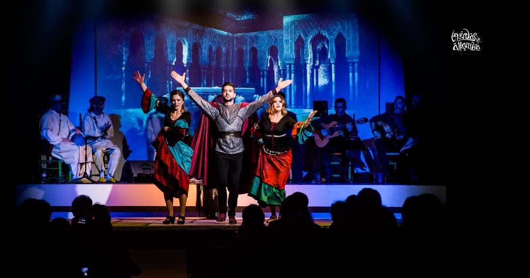 Fotografía del musical Leyendas de la Alhambra en Granada. El primer musical que cuenta la historia de la reconquista de la Alhambra en Andalucía.